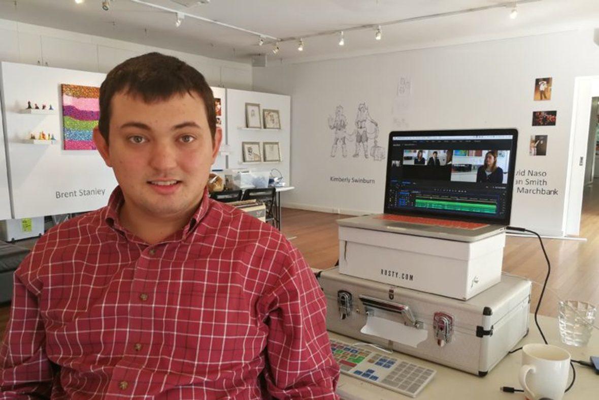 DADAA | film-maker editing a film