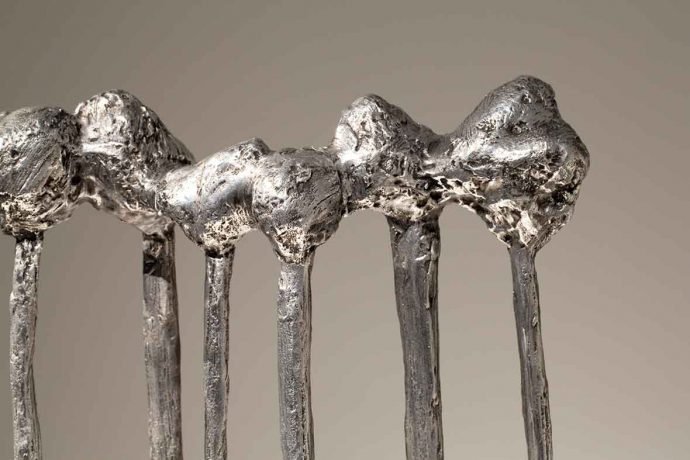 DADAA | arts and disability | silver trees sculpture by Lisa Uhl