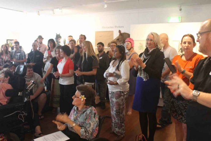 DADAA | DADAA Fremantle | audience enjoying exhibition in Freight Gallery