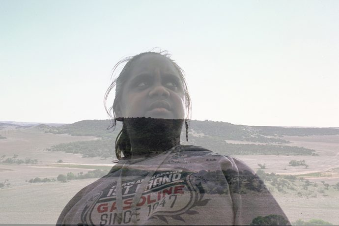 DADAA   Geraldton   young Indigenous woman portrait blended with landscape