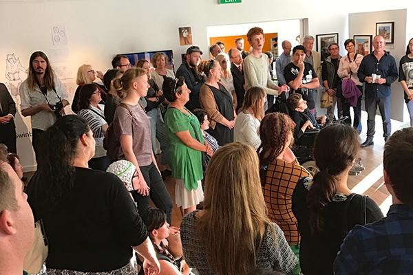 DADAA | Nexus Arts Grants | large audience in Freight Gallery