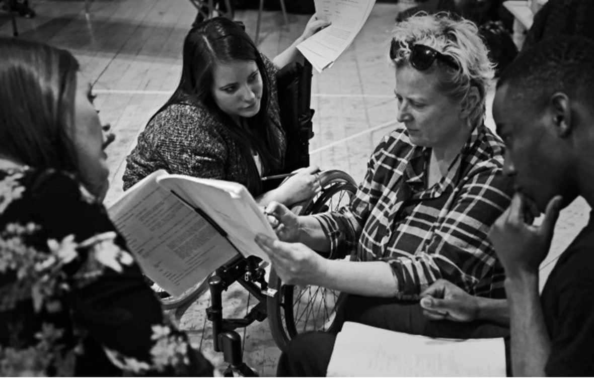 DADAA | PIAF Connect | Graeae Theatre director Jenny Sealey reads a script with actors