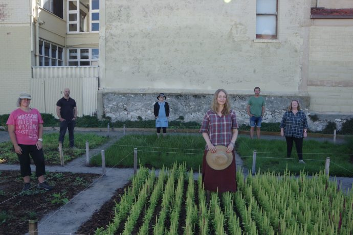 DADAA | people standing in garden