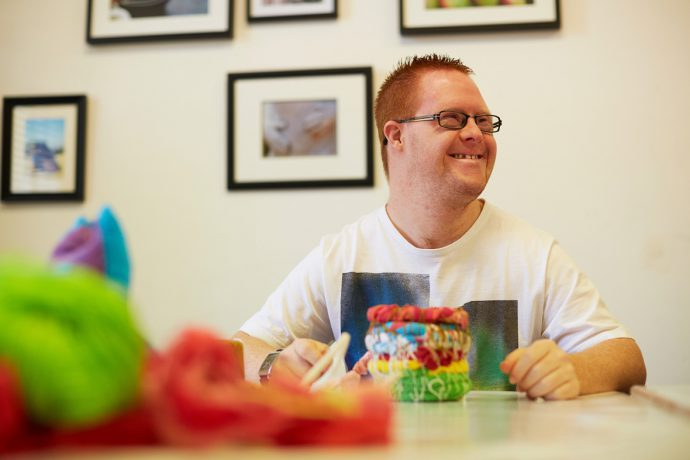 DADAA | DADAA Midland | young adult artist with disability in soft sculpture workshop
