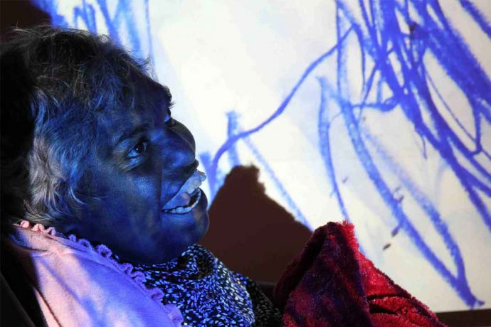 DADAA | pop-up workshops | aboriginal woman creating digital art