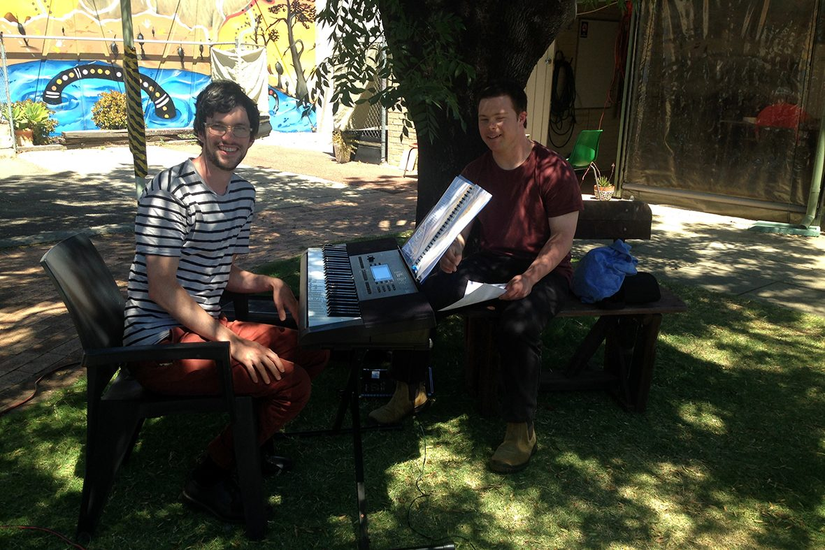 DADAA | two young males at an electronic keyboard