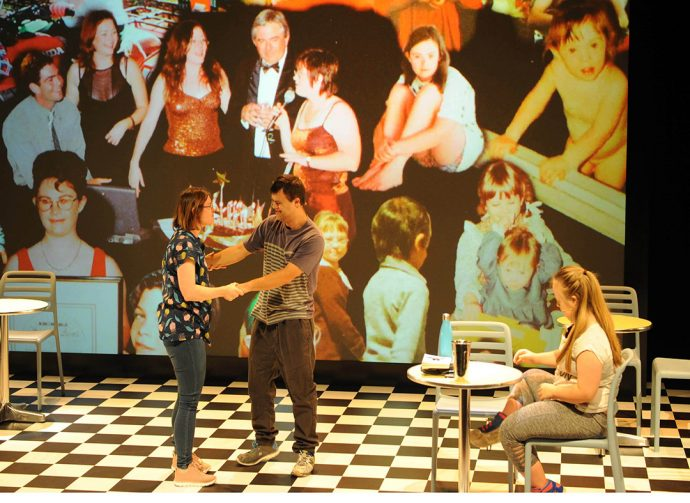DADAA   Julia Hales, You Know We Belong Together stage shot. Photo Toni Wilkinson