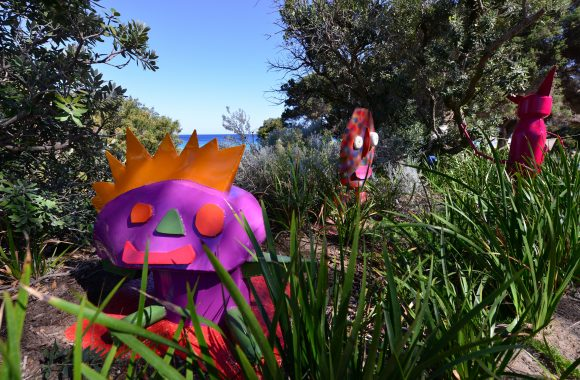 Photograph of Mandy White's sculptures at Sculpture by the Sea