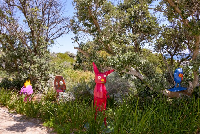 Photograph of Mandy White's sculptures at Sculpture by the Sea, Cottesloe