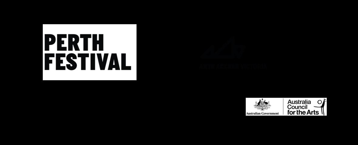 Logo block: Perth Festival, DADAA, Arts Access Victoria, Healthway, Screen Australia, Australia Council for the Arts