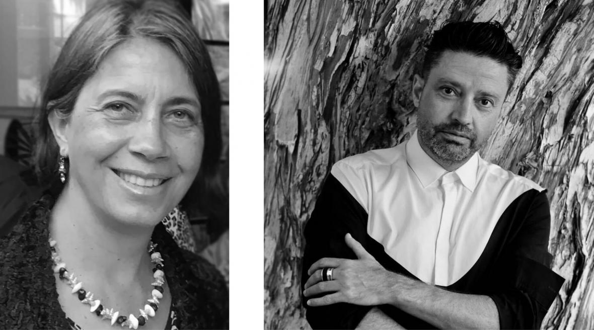 black and white headshots of Michelle Broun and Aurelio Costarella